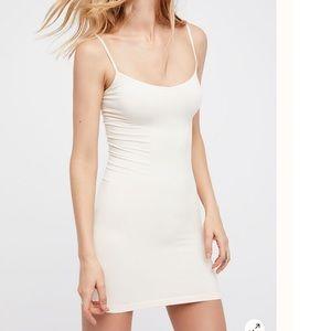 NEW Free People Intimately Seamless Square Neck Slip Dress Berry Sz XS//S $39.73
